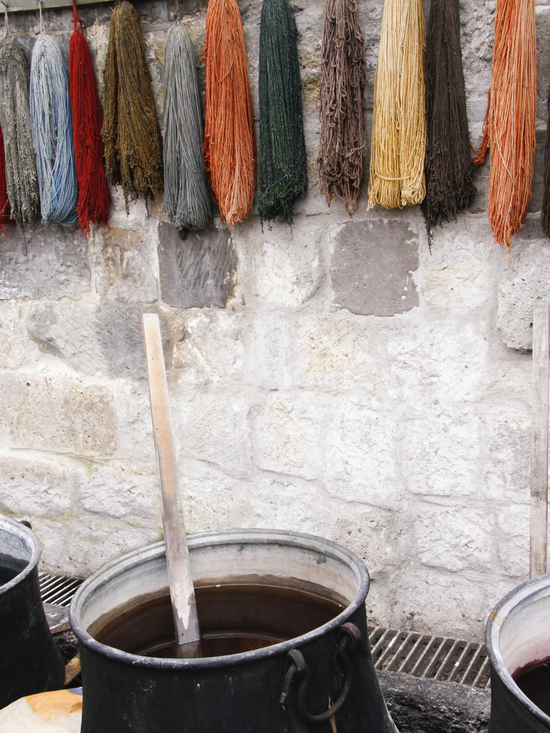 dying sustainable wool