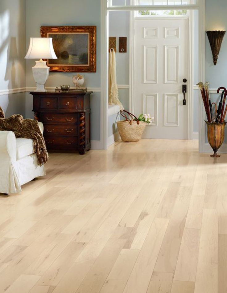 blonde hardwood floors