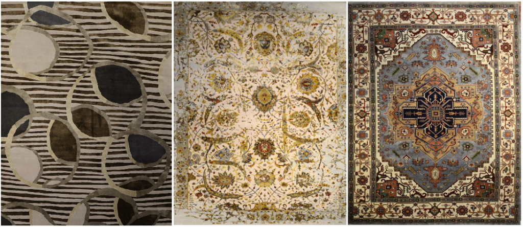 Hand-knotted rugs from Dover Rug & Home.