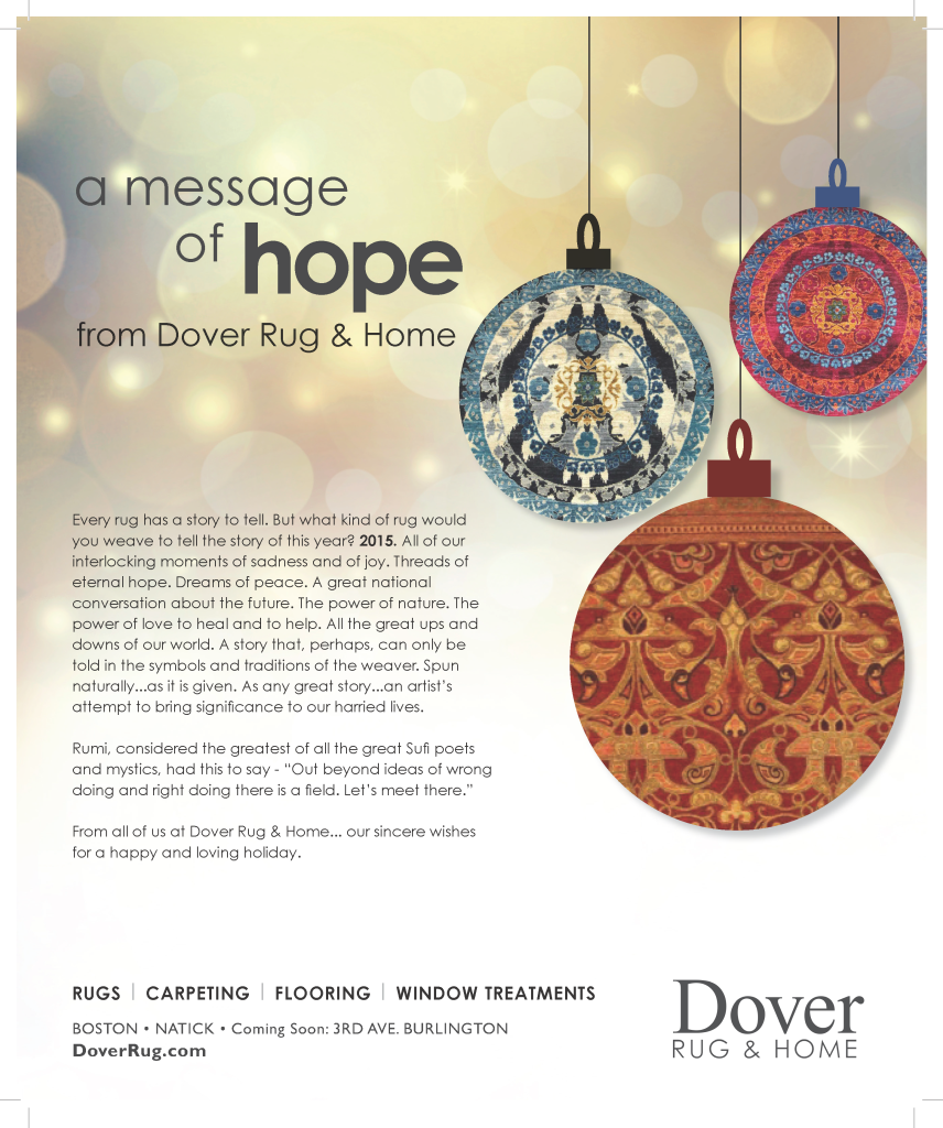 A message of hope from Dover Rug & Home.