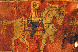 The ancient Pazyryk rug .