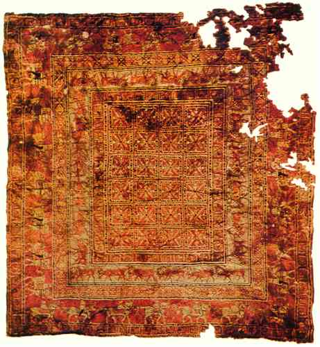 The ancient Pazyryk rug.