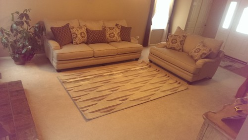 Using area rugs on carpeting dover rugdover rug for How big of a rug should i get